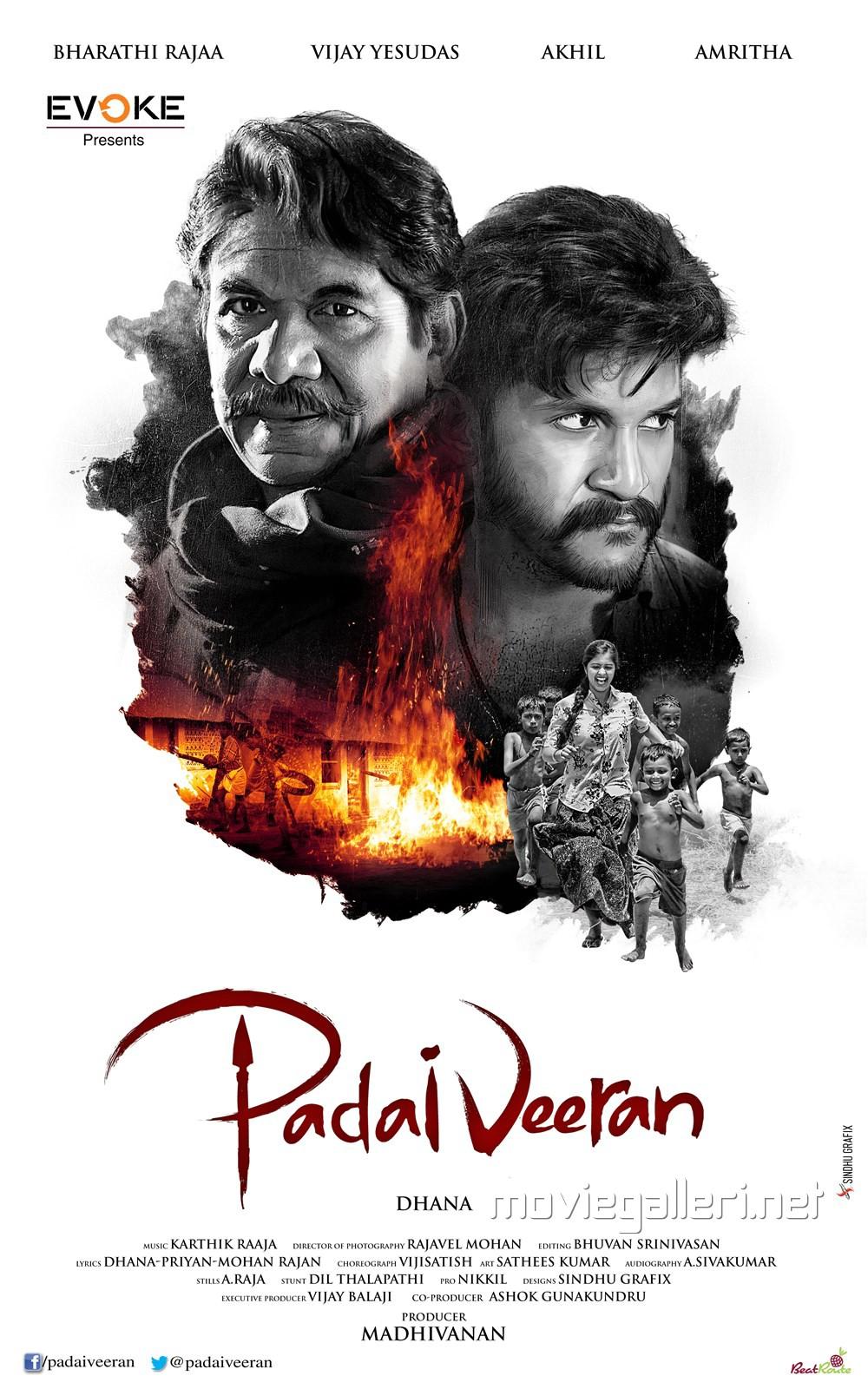 Bharathiraja Vijay Yesudas Padaiveeran First Look Posters