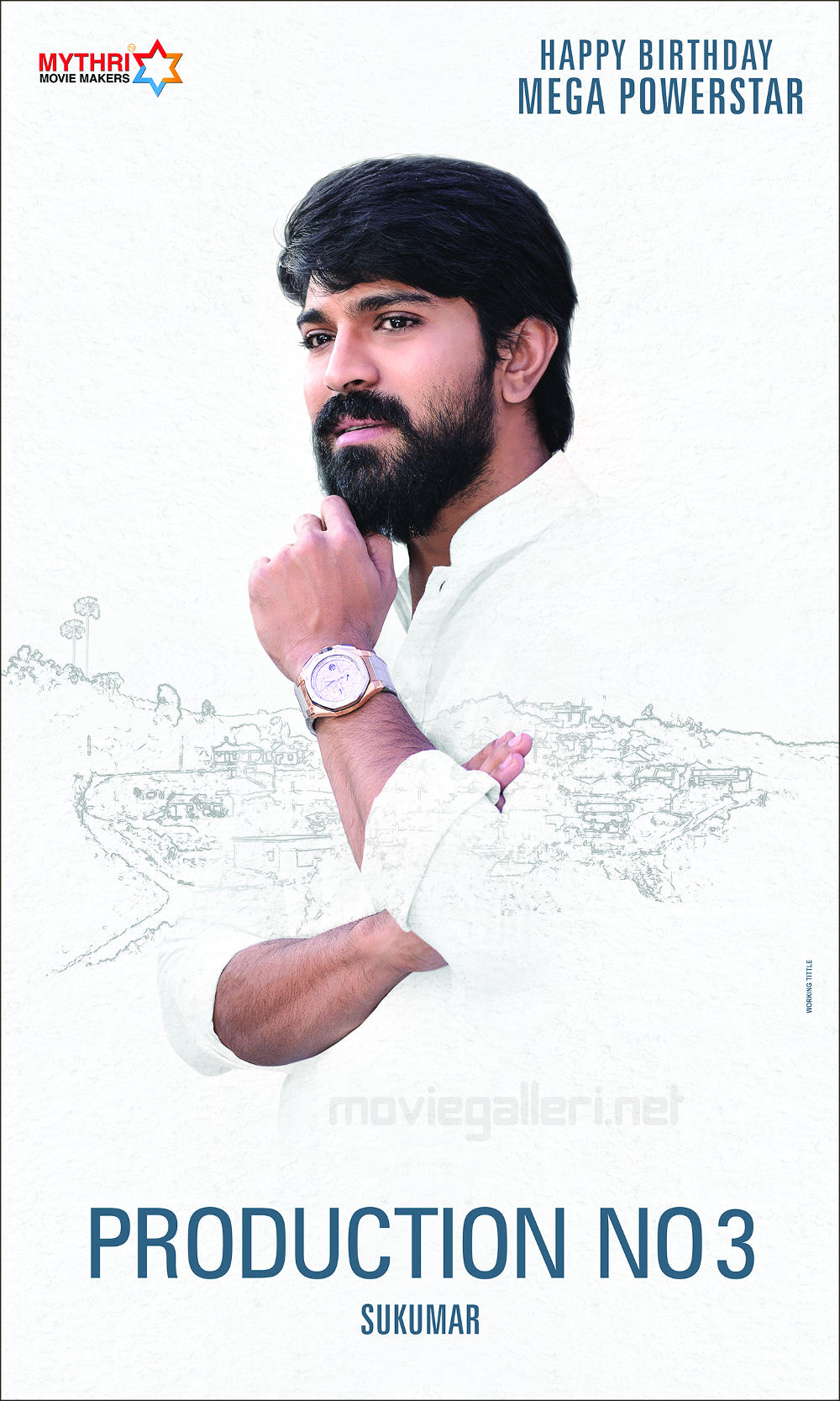 Ram Charan Sukumar Mythri Movies Birthday Wishes Poster