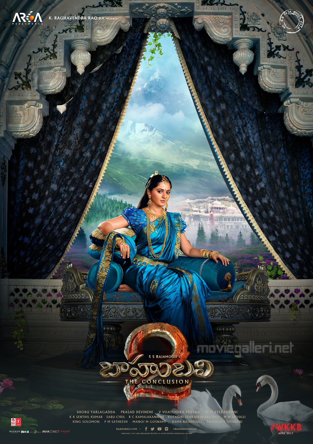 Actress Anushka Shetty in Baahubali 2 Movie Poster