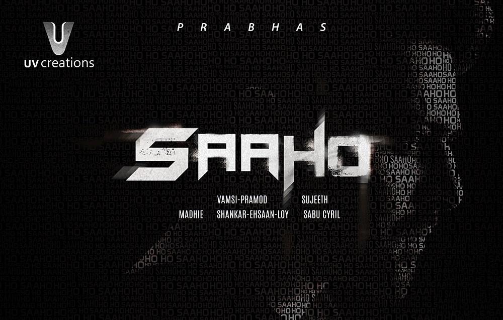 Prabhas Saaho Movie Logo Poster