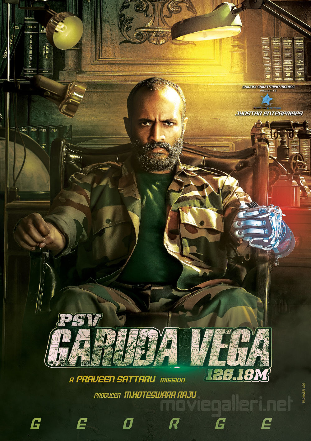 Actor Kishore in PSV Garuda Vega Movie Poster