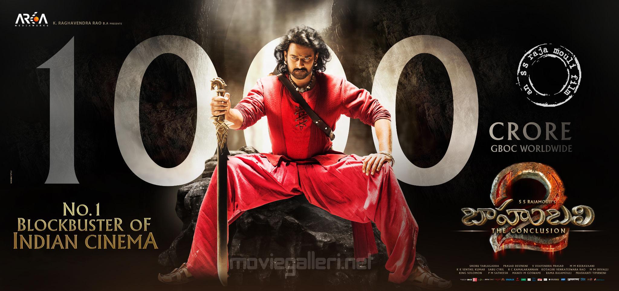 Baahubali 2 Movie 1000 Crore Poster