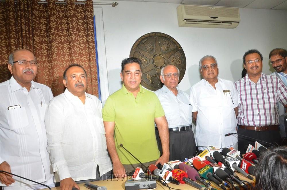 Actor Kamal Haasan Press Meet Regarding GST Tax Photos