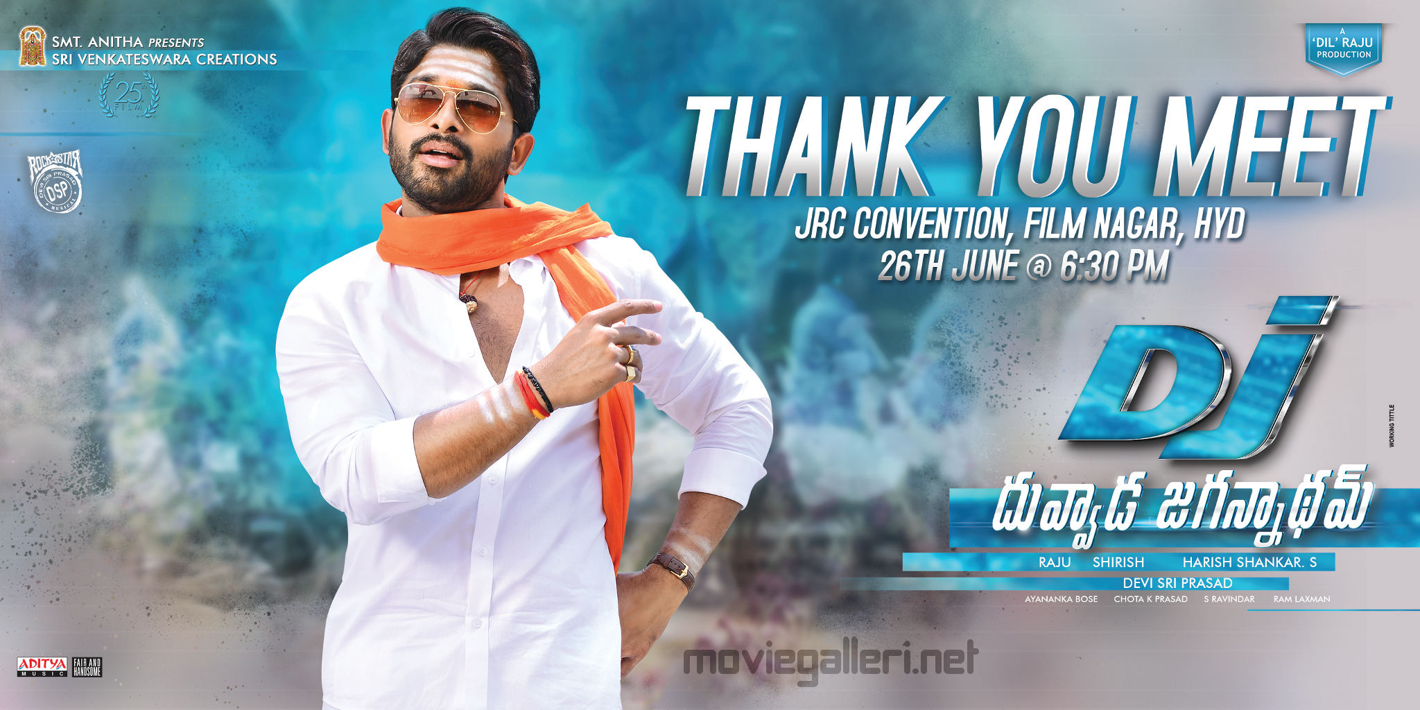 Allu Arjun DJ Duvvada Jagannadham thank you meet on 26 June Poster