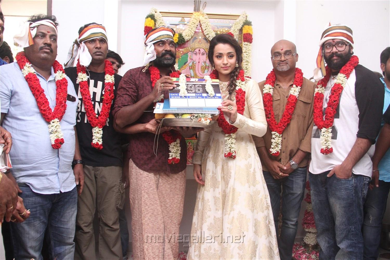 Vijay Sethupathi Trisha 96 Movie Pooja