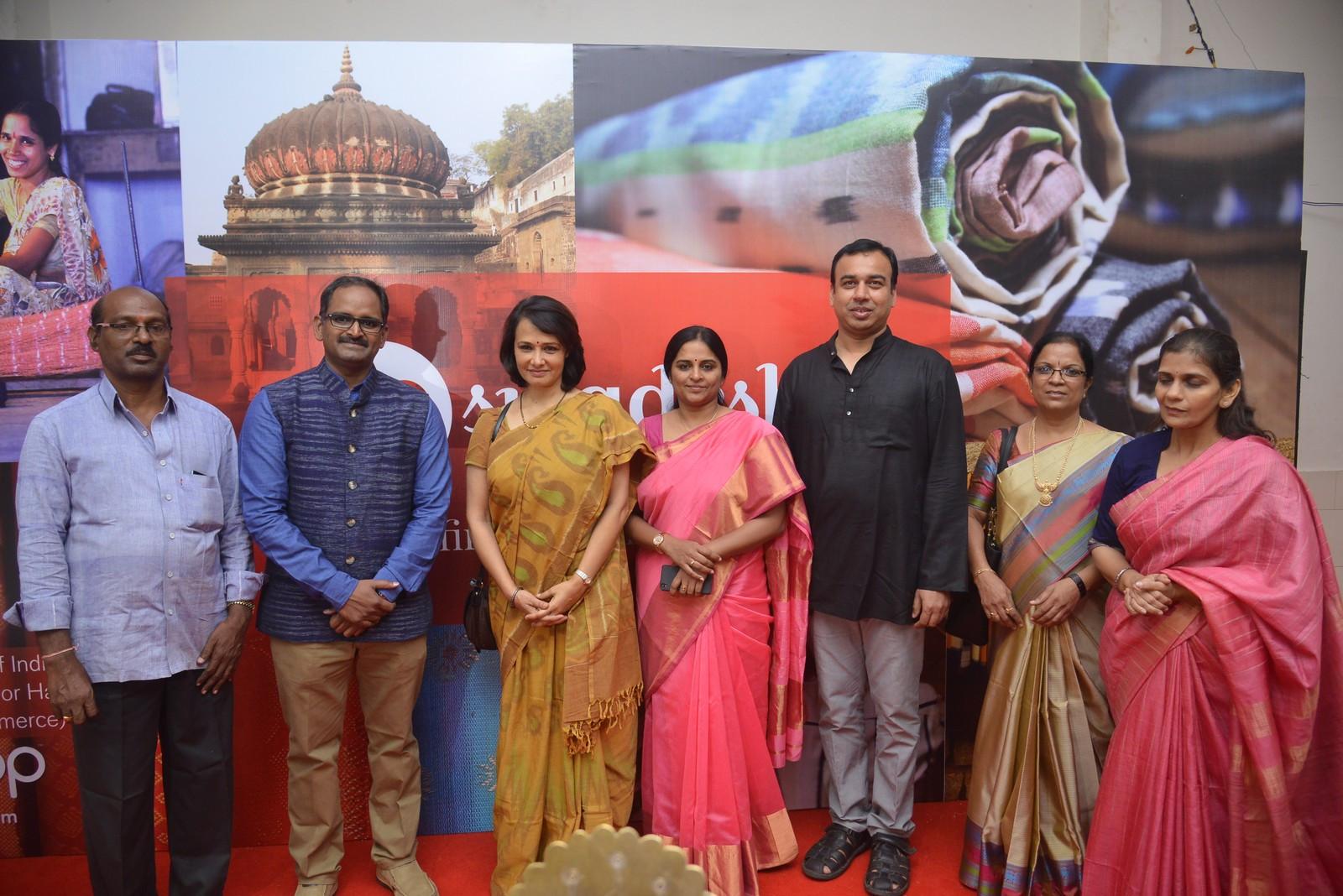 Go Swadeshi handwoven expo launch by Amala at Kalinga Hall, Road No. 12, Banjara Hills, Hyderabad