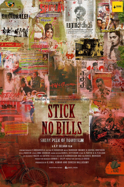 Stick No Bills Tamil Film First Look Posters