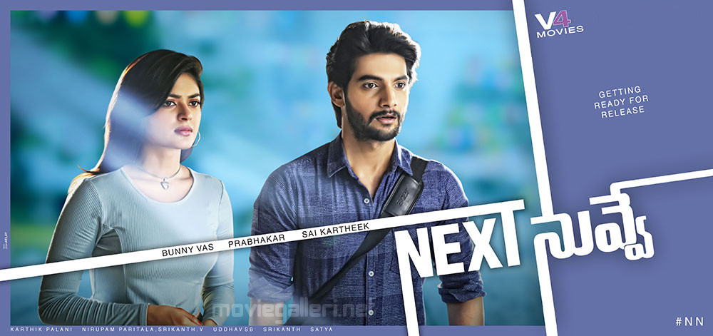 Aadi & Vaibhavi Shandilya in Next Nuvve First Look Poster