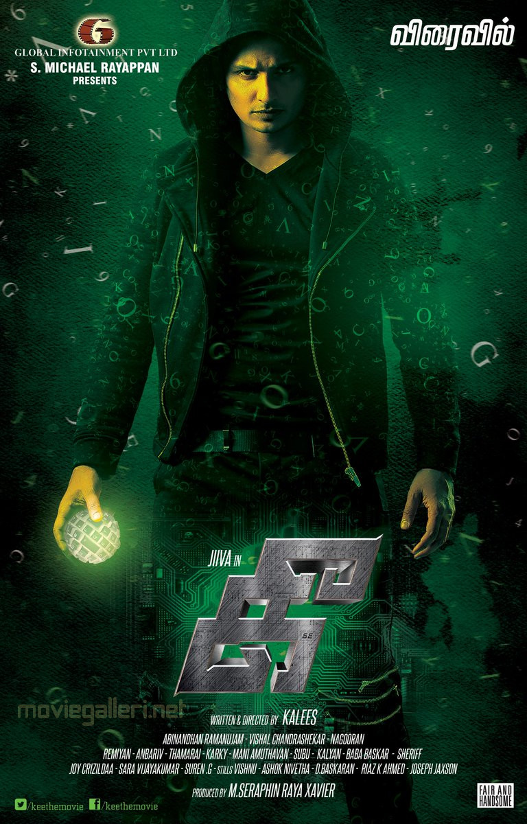 Actor Jiiva Kee Movie First Look Poster