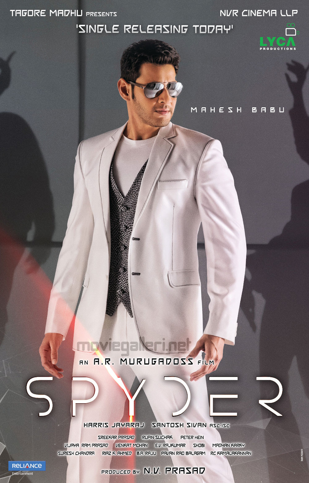 Actor Mahesh Babu's Spyder Movie Single Releasing Today Posters