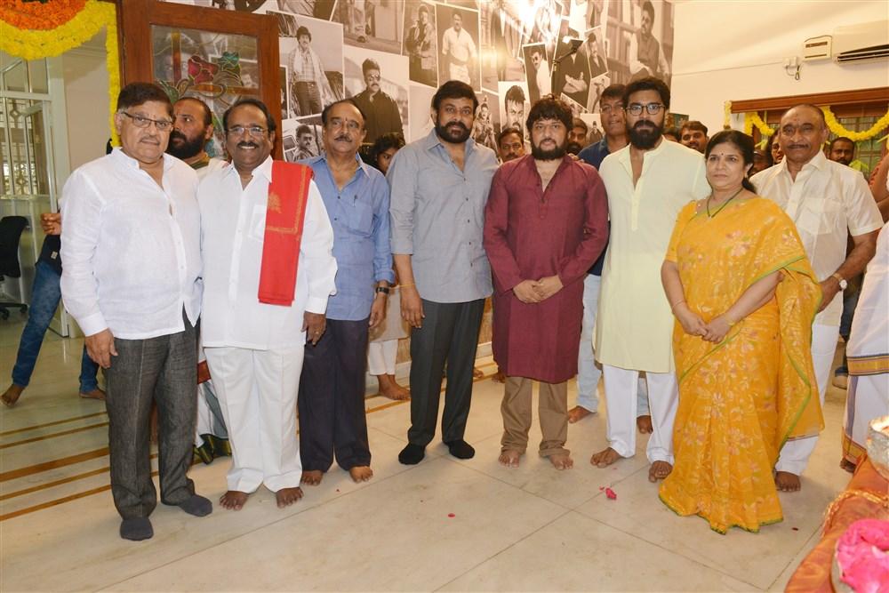 Chiranjeevi Surender Reddy Konidela Production Company Film Muhurat Images