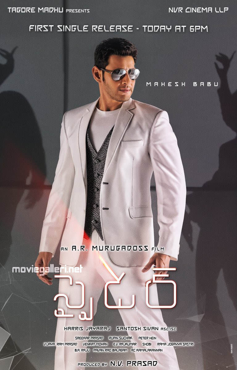Mahesh Babu's Spyder Movie Boom Boom Single Song Releasing Today Posters