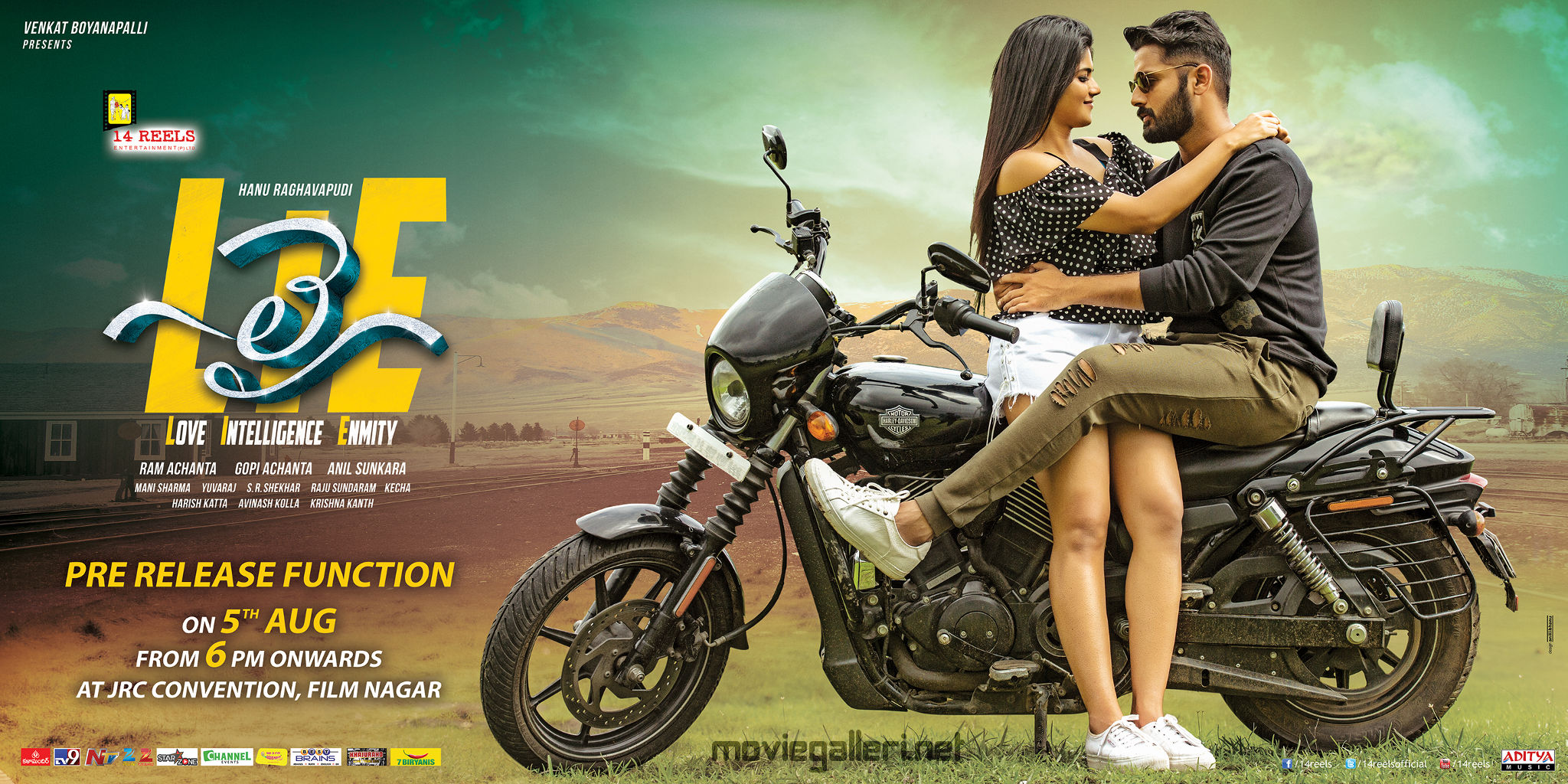 Megha Akash, Nithin in LIE Pre Release Function on 5th August Posters