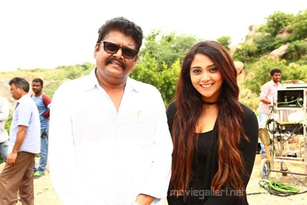 Director KS Ravikumar & Actress Natasha Doshi in NBK102 Sets