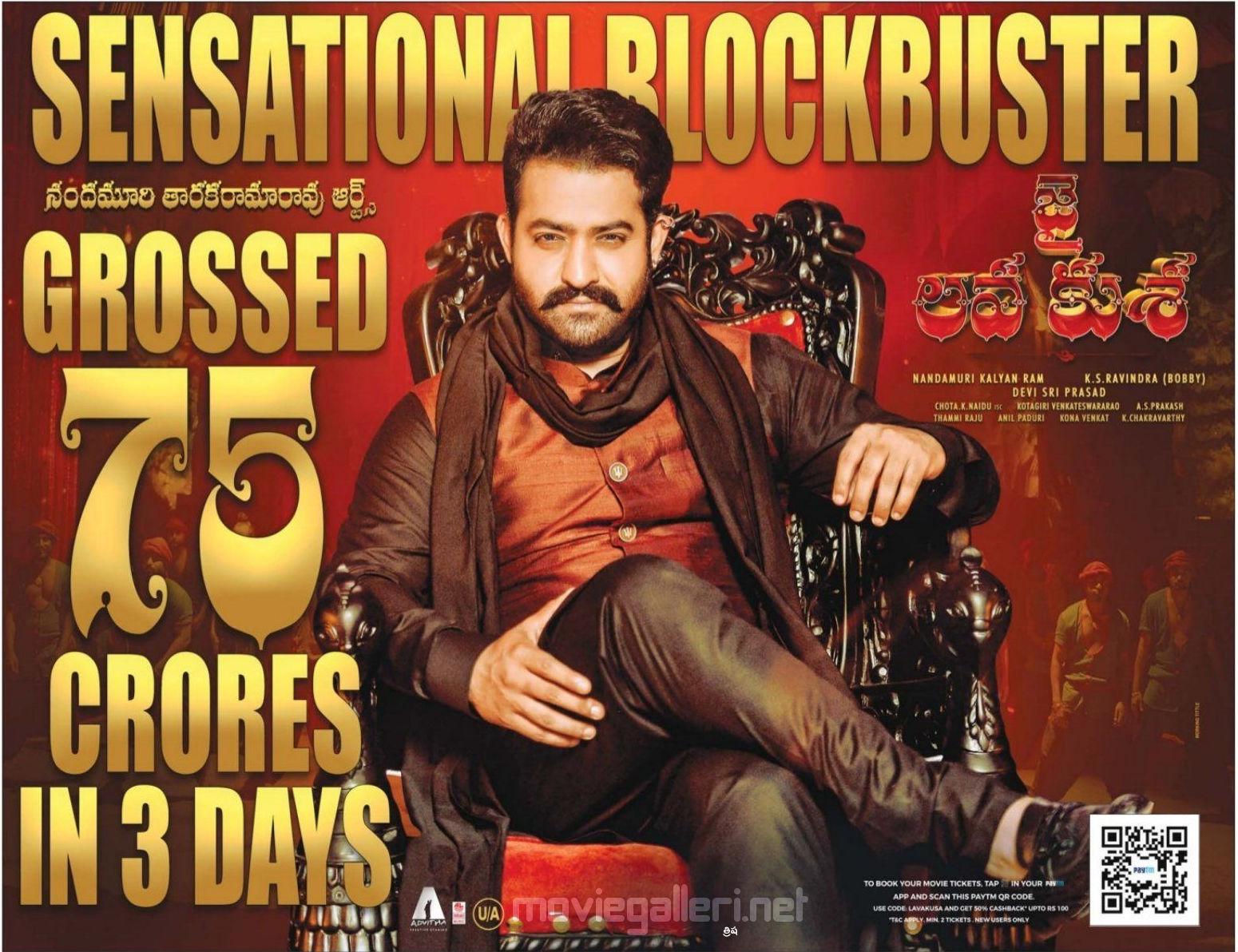 Jr NTR Jai Lava Kusa crossed 75 crores in 3 Days Wallpaper