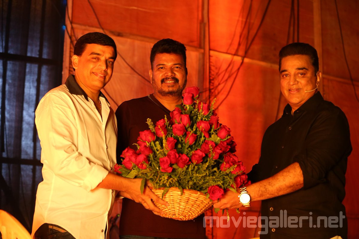 Producer Dil Raju, Director Shankar, Actor Kamal Haasan on Indian 2 movie