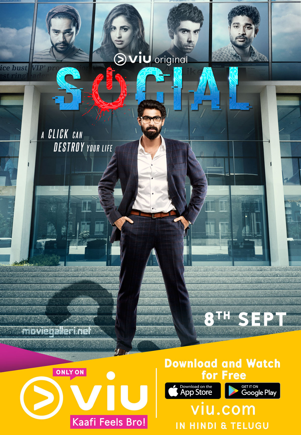 Rana Daggubati's First Look on Social Web Series Poster