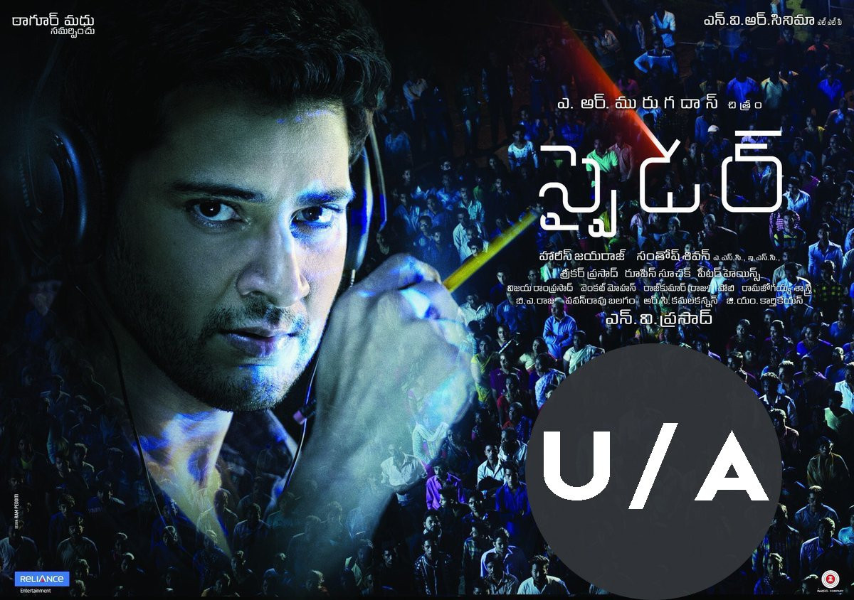 Spyder gets UA Censor certificate film release on 27 September