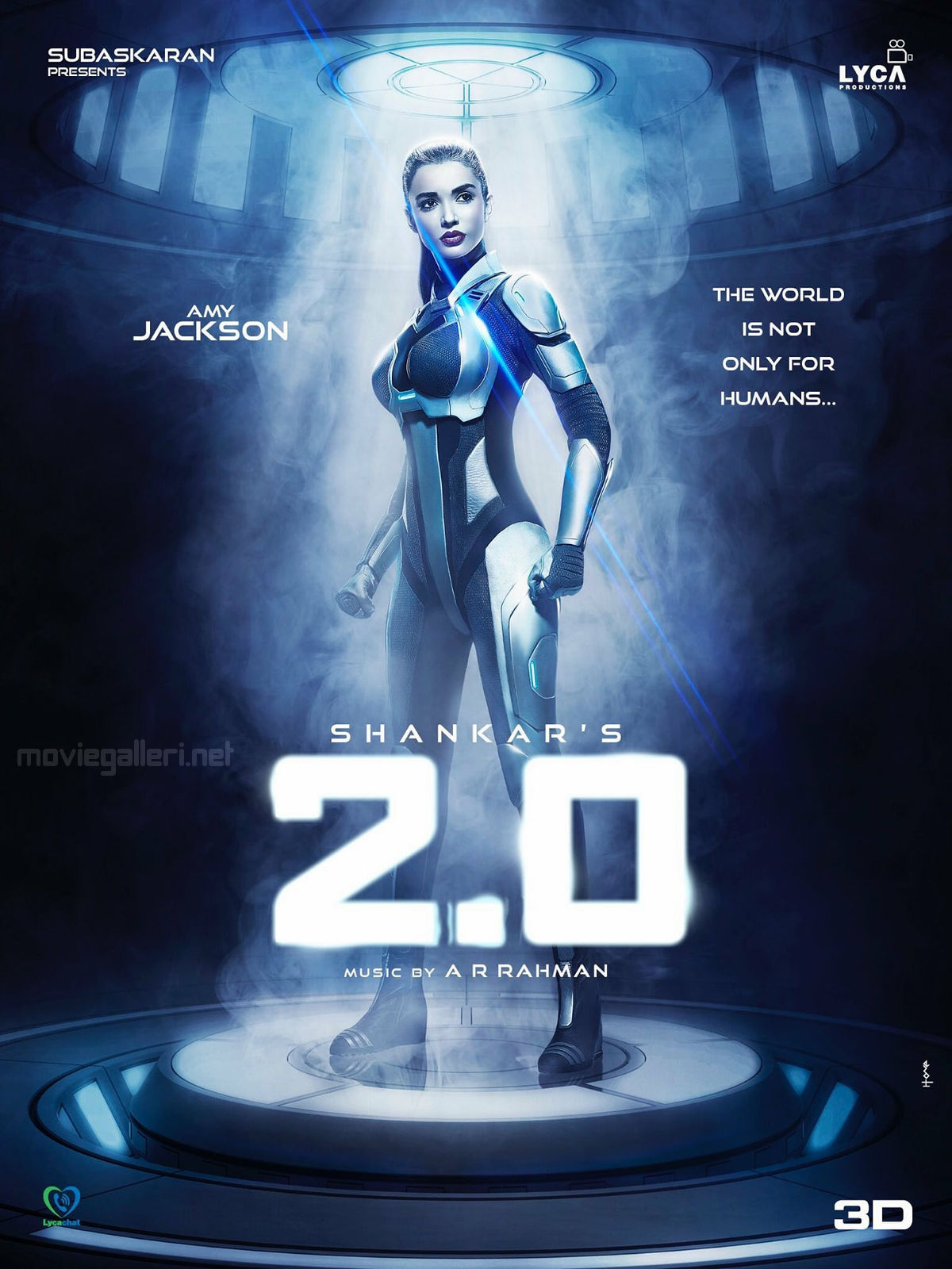 2point0 Movie Amy Jackson First Look Poster