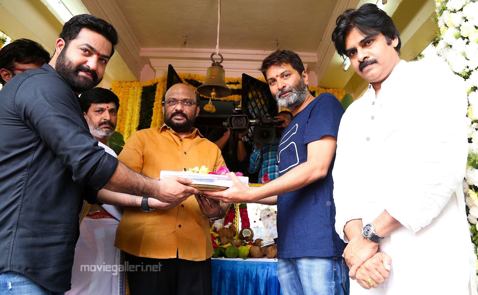 Jr NTR Trivikram Srinivas NTR28 Launched By Pawan Kalyan