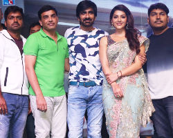Raja the Great Pre Release Function Stills