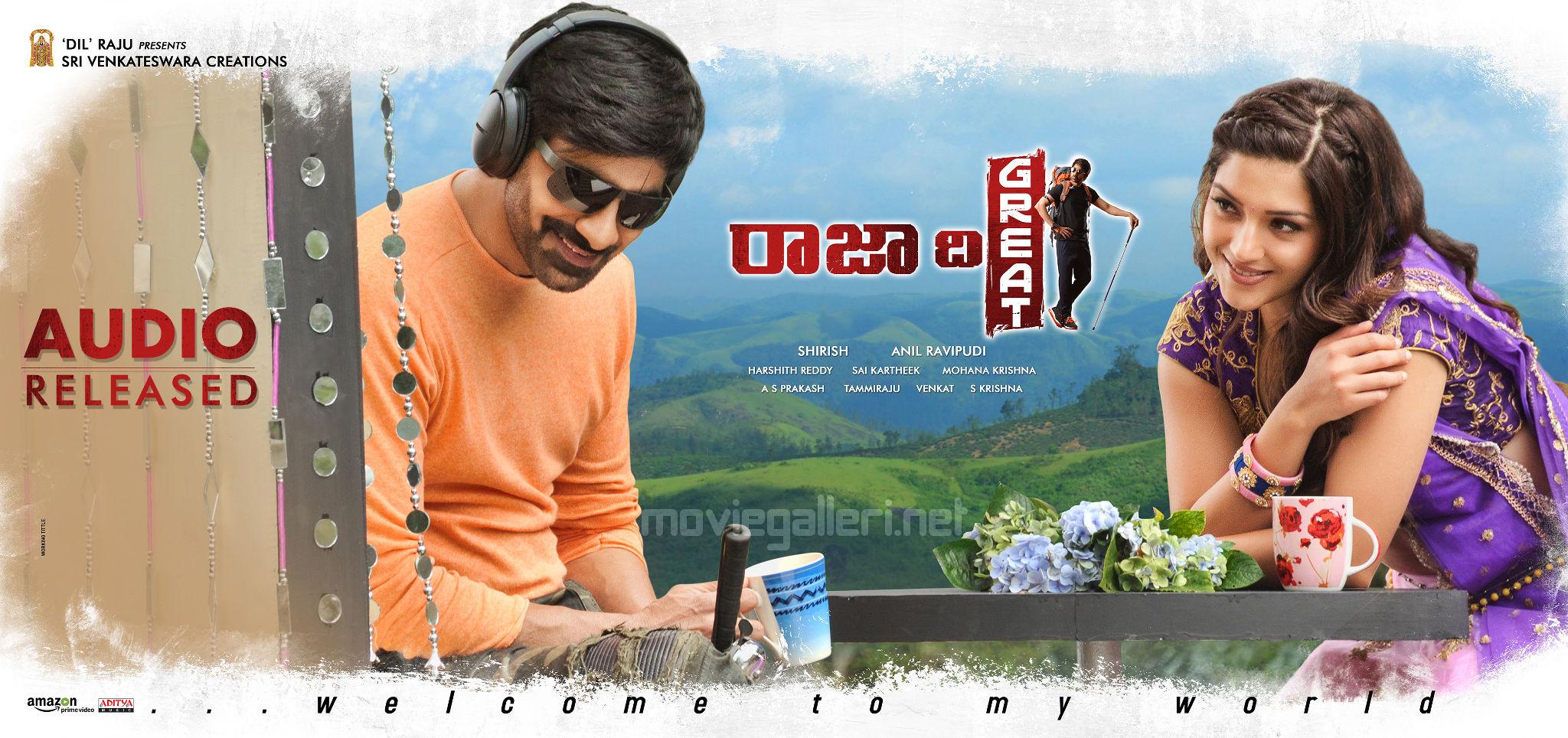 Ravi Teja Mehreen Pirzada Raja the Great Movie Audio Released Wallpapers
