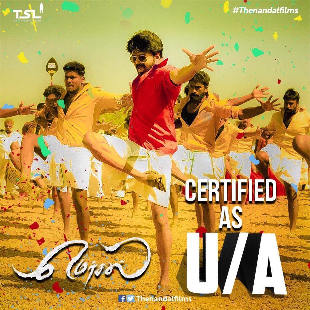 Vijay Mersal censored UA certificate