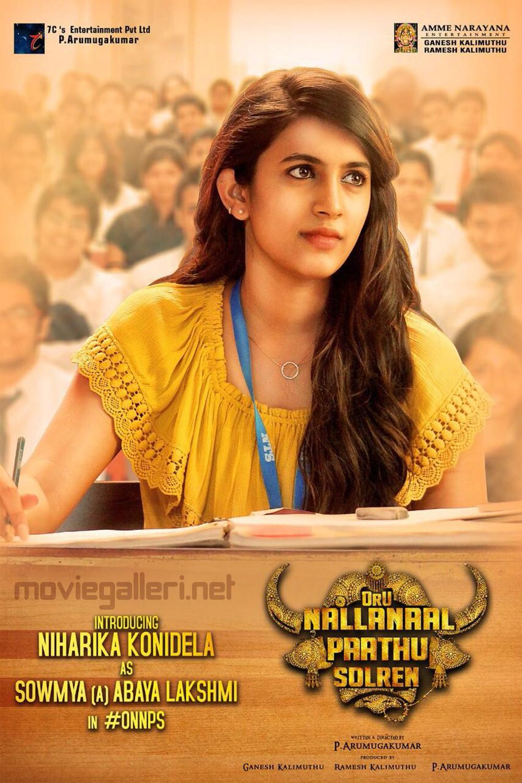 Actress Niharika Konidela Oru Nalla Naal Paathu Solren MOvie Poster