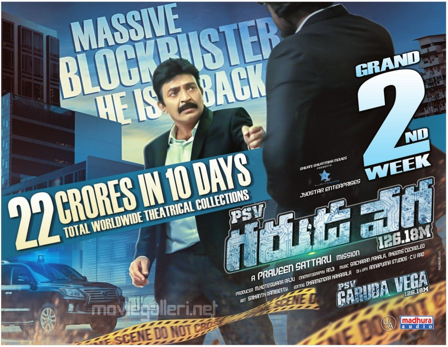 Rajasekhar PSV Garuda Vega 22 Crores in 10 Days Wallpaper