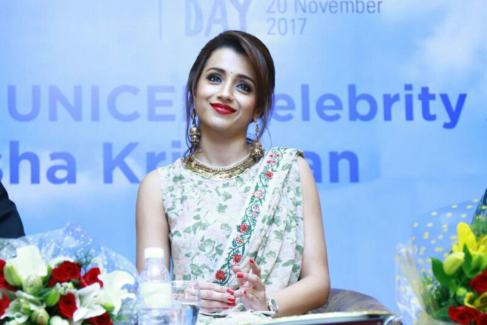 Trisha to be UNICEF celebrity advocate for child rights