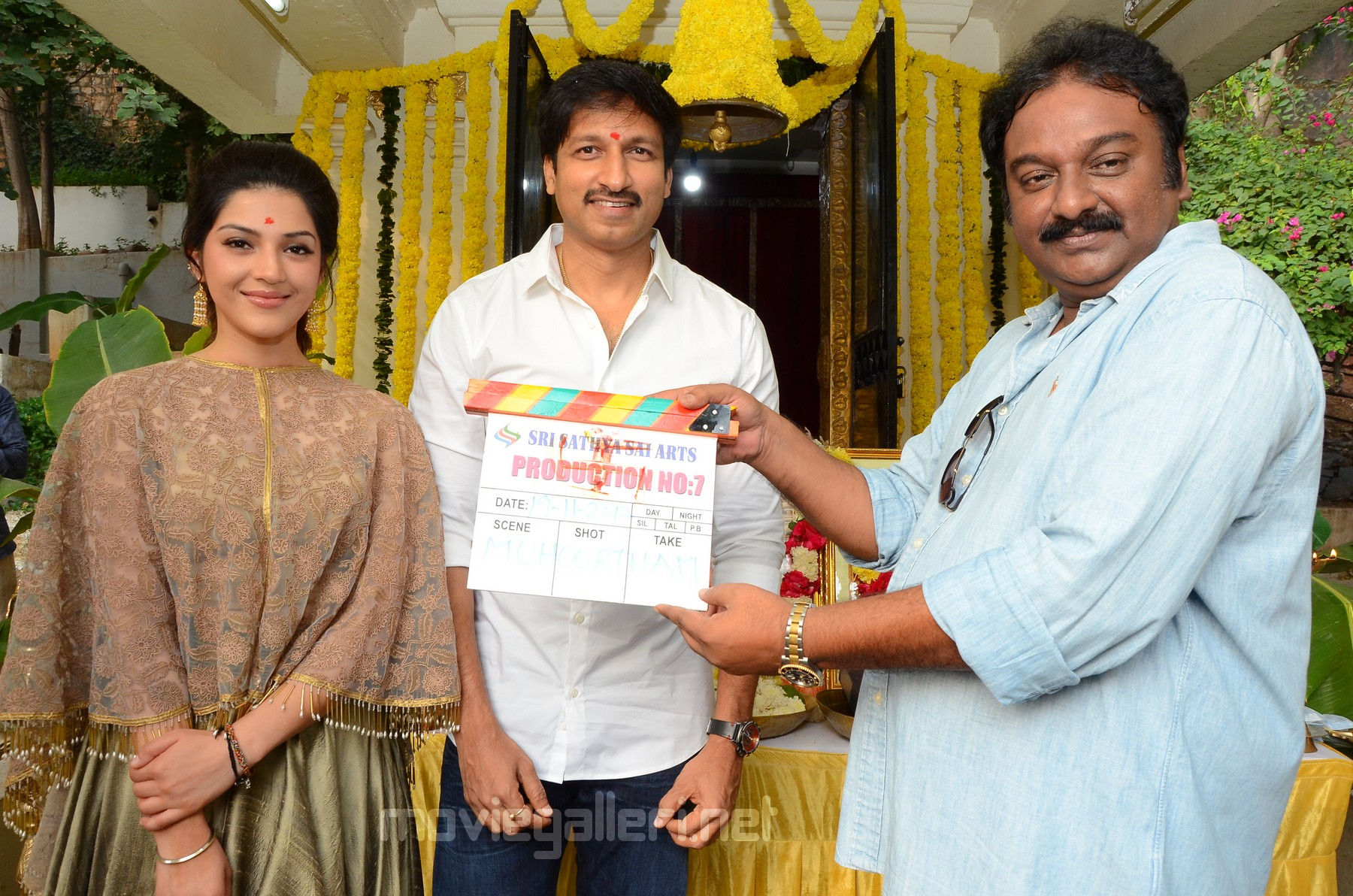 VV Vinayak sounded the claps for first muhurtham shot for Mehreen Gopichand 25th film