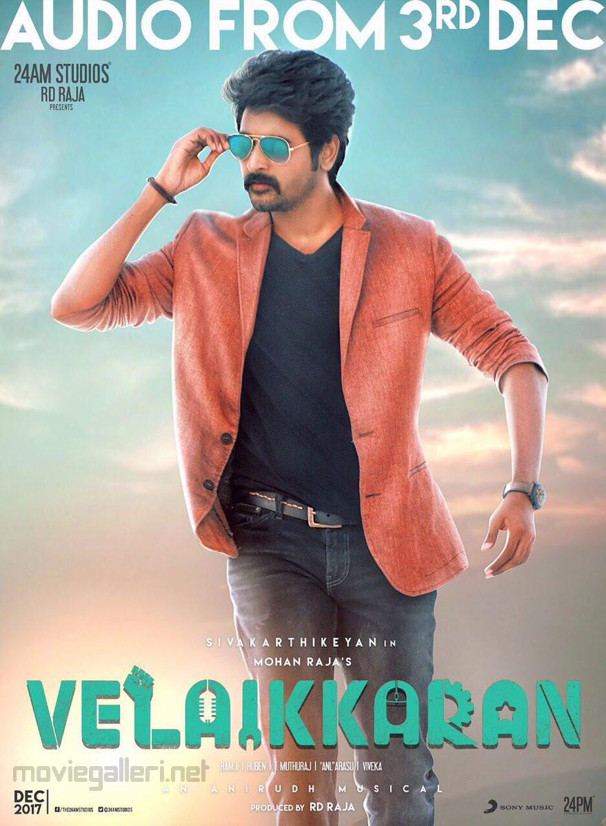 sivakarthikeyan velaikaran audio launch release date 3rd dec poster