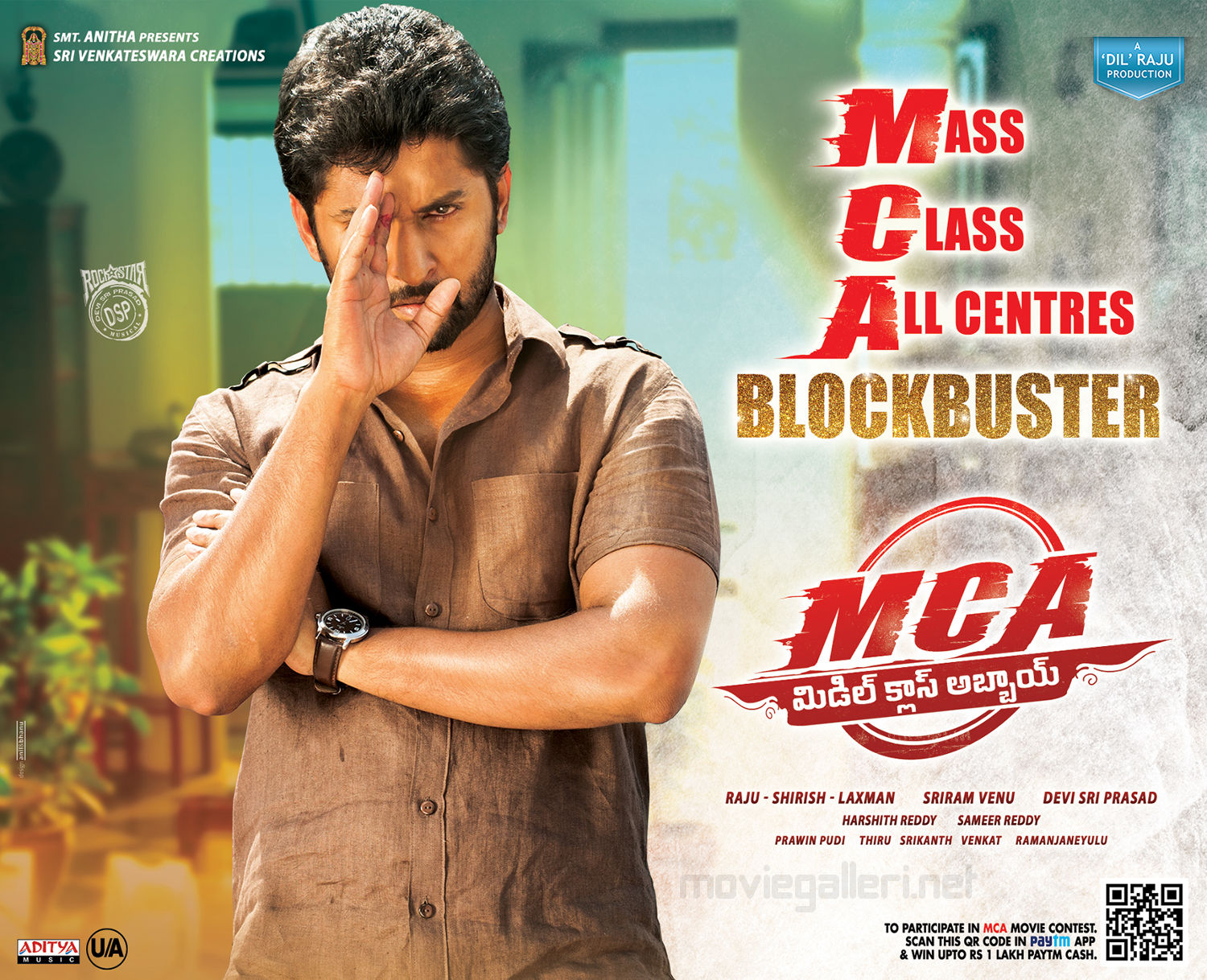 Actor Nani MCA Middle Class Abbayi Movie Mass Class Allcentres Blockbuster Wallpapers