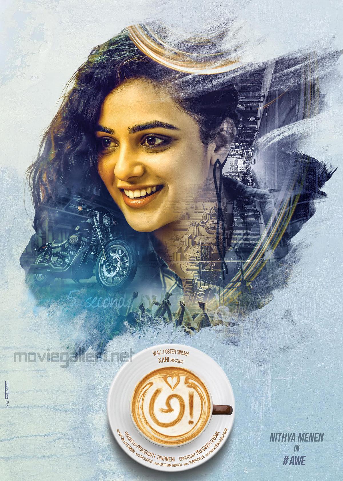 Actress Nithya Menen Awe First Look Poster HD