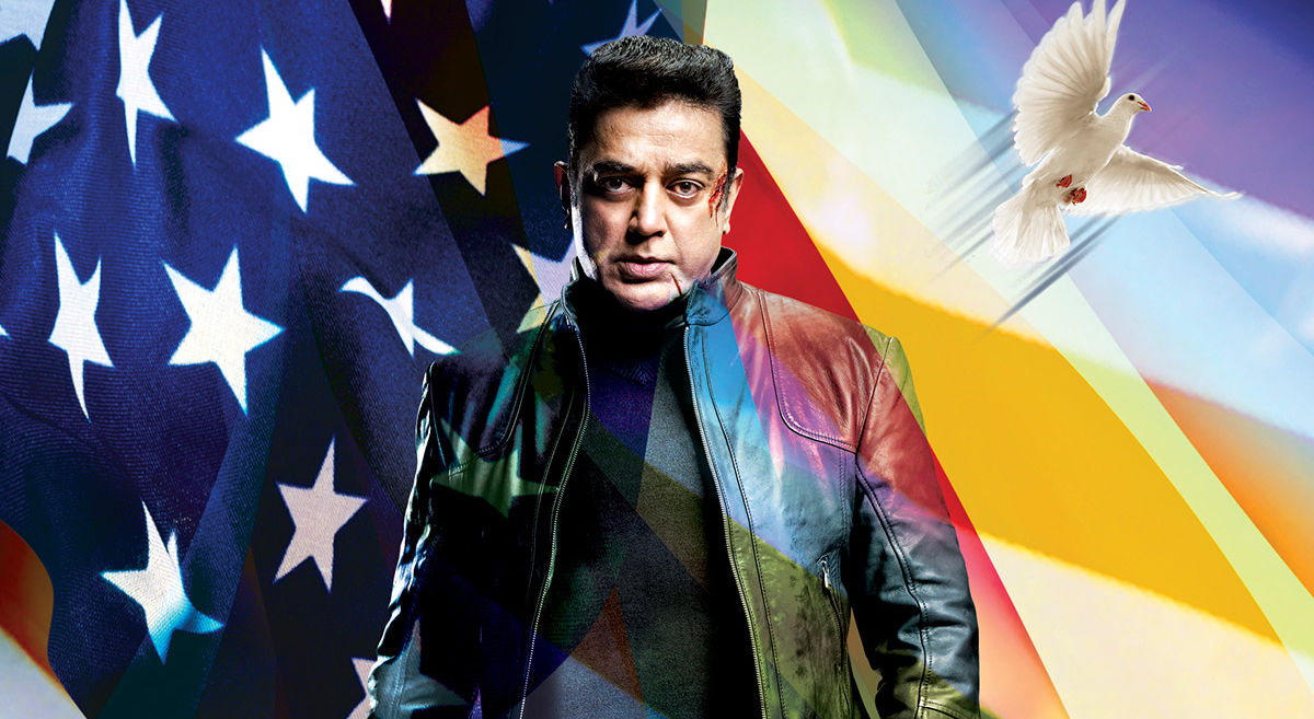 Kamal Hassan in USA for Vishwaroopam 2 Audio & Graphic works