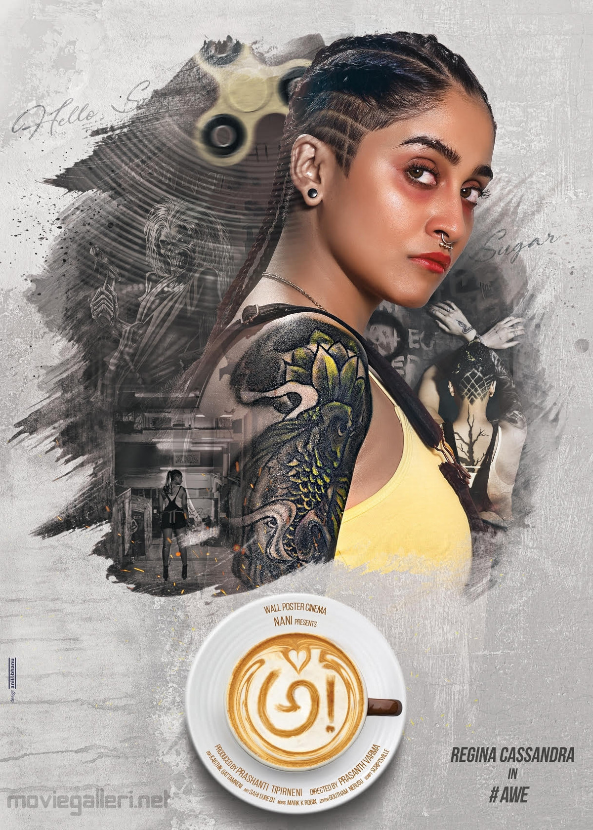 Telugu Actress Regina Cassandra AWE Movie Poster HD