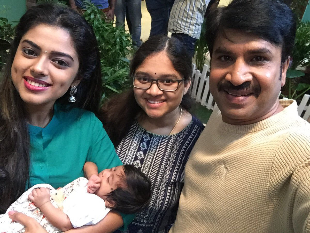 Srinivas Reddy's one month old daughter debuts in Jamba