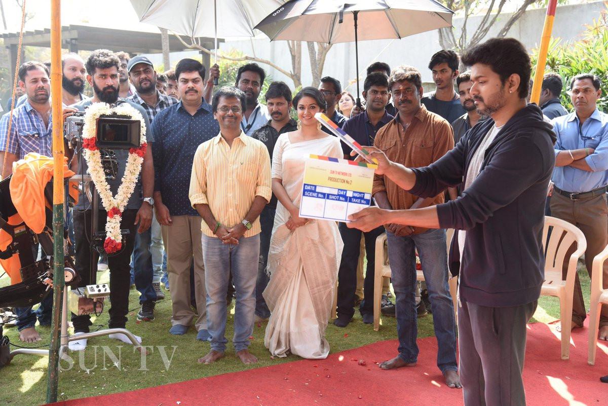 Actor Vijay Thalapathy 62 Movie Pooja Keerthy Suresh AR Murugadoss