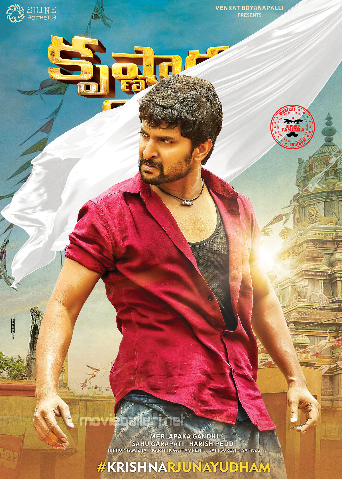 Krishnarjuna Yudham Movie Hero Nani as Krishna First Look Poster HD