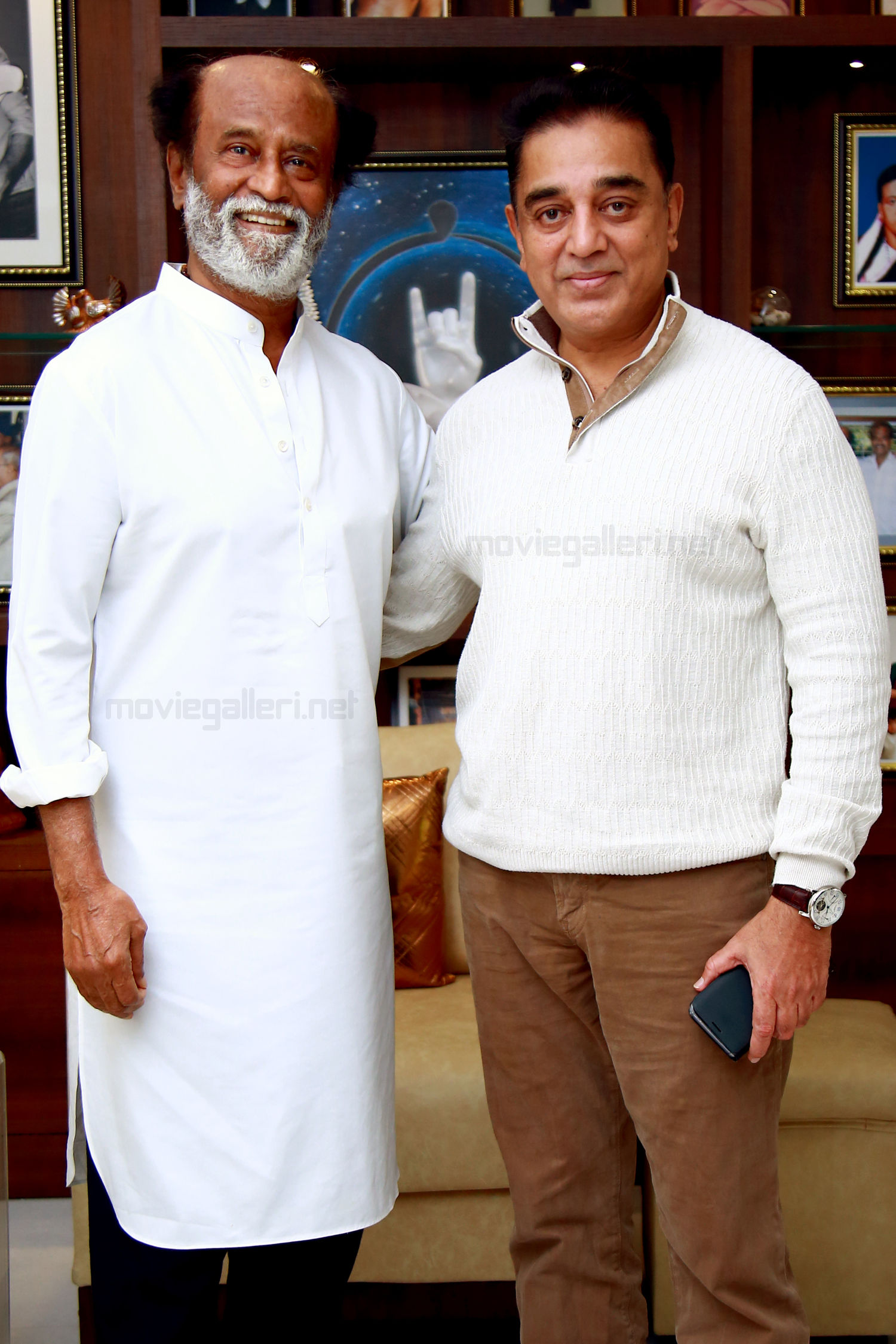 Kamal Haasan meets Rajinikanth in Chennai ahead of starting his political tour across Tamil Nadu