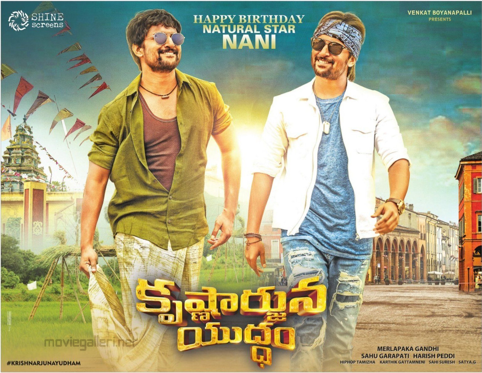 Krishnarjuna Yuddham Actor Nani Birthday Poster HD