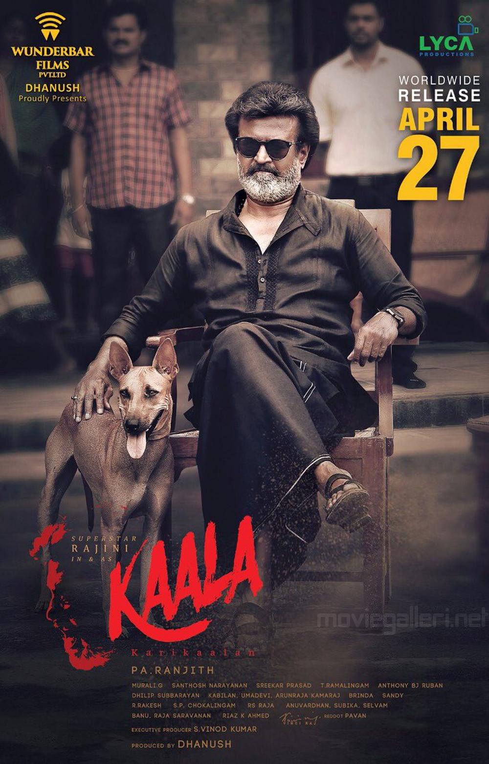 Rajini Kaala Movie Release Date April 27th Poster