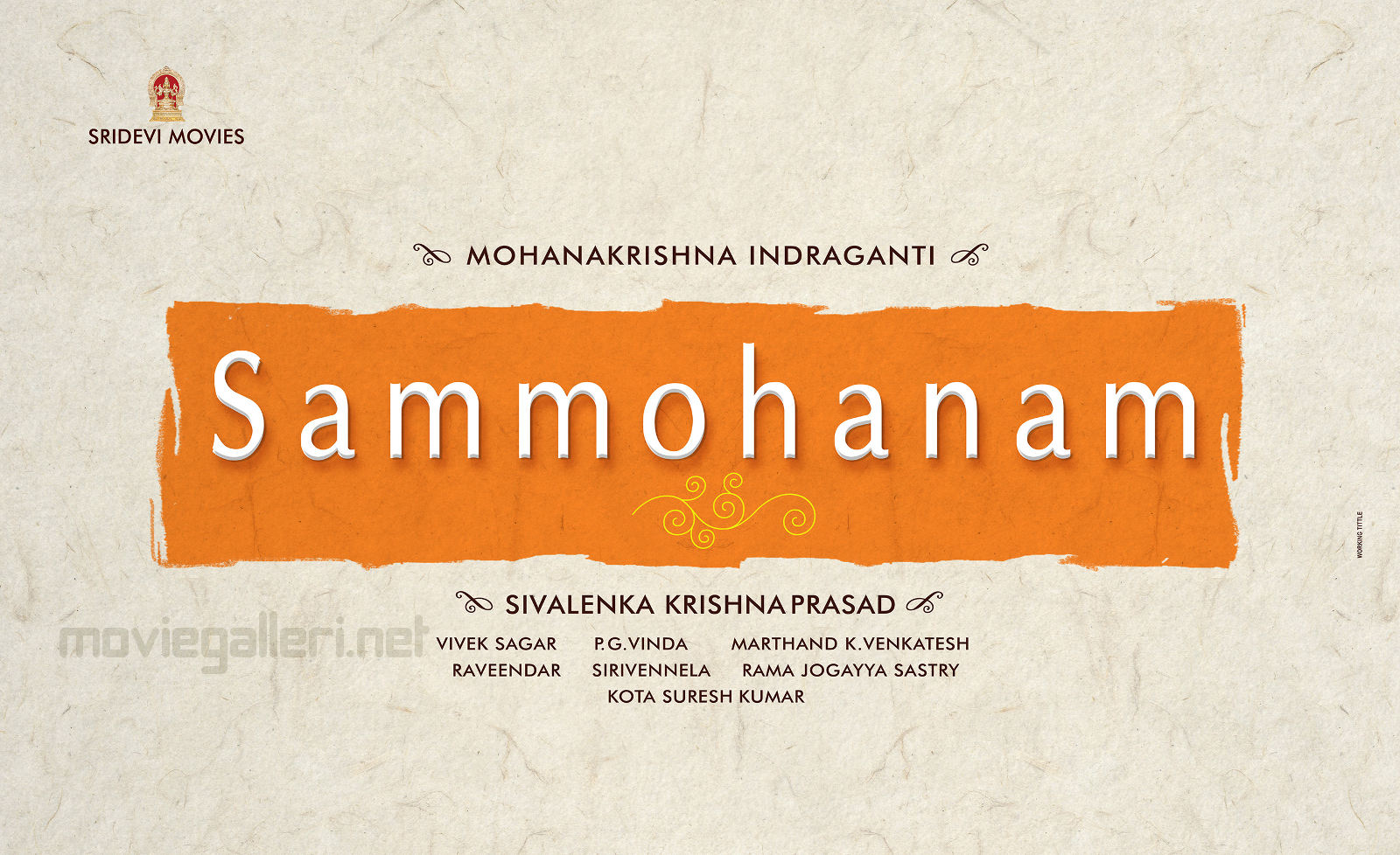 Sudheer Babu - Indraganti Mohan Krishna movie Sammohanam title announcement