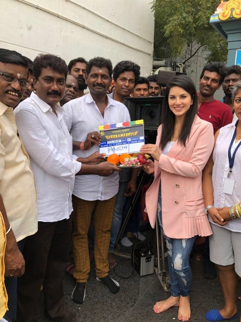 Sunny Leone Veeramadevi Movie Shooting started