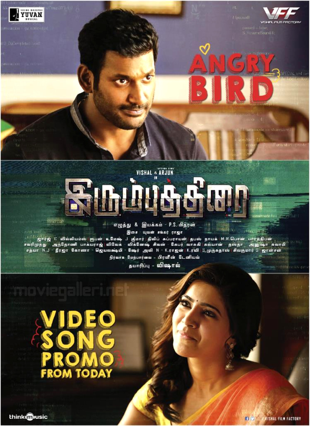 Vishal Samantha IrumbuThirai AngryBird Video Song Promo Release Posters