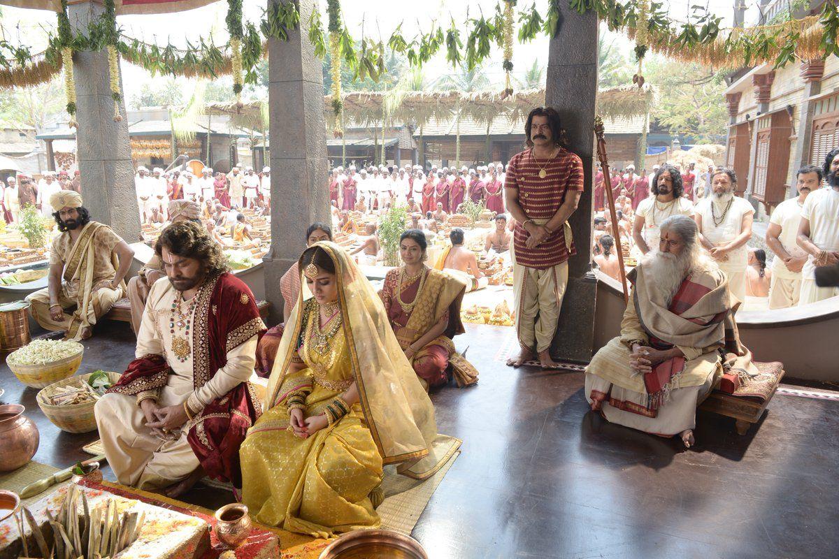 Chiranjeevi Nayanthara Amitabh Bachchan Sye Raa Narasimha Reddy First Look Image