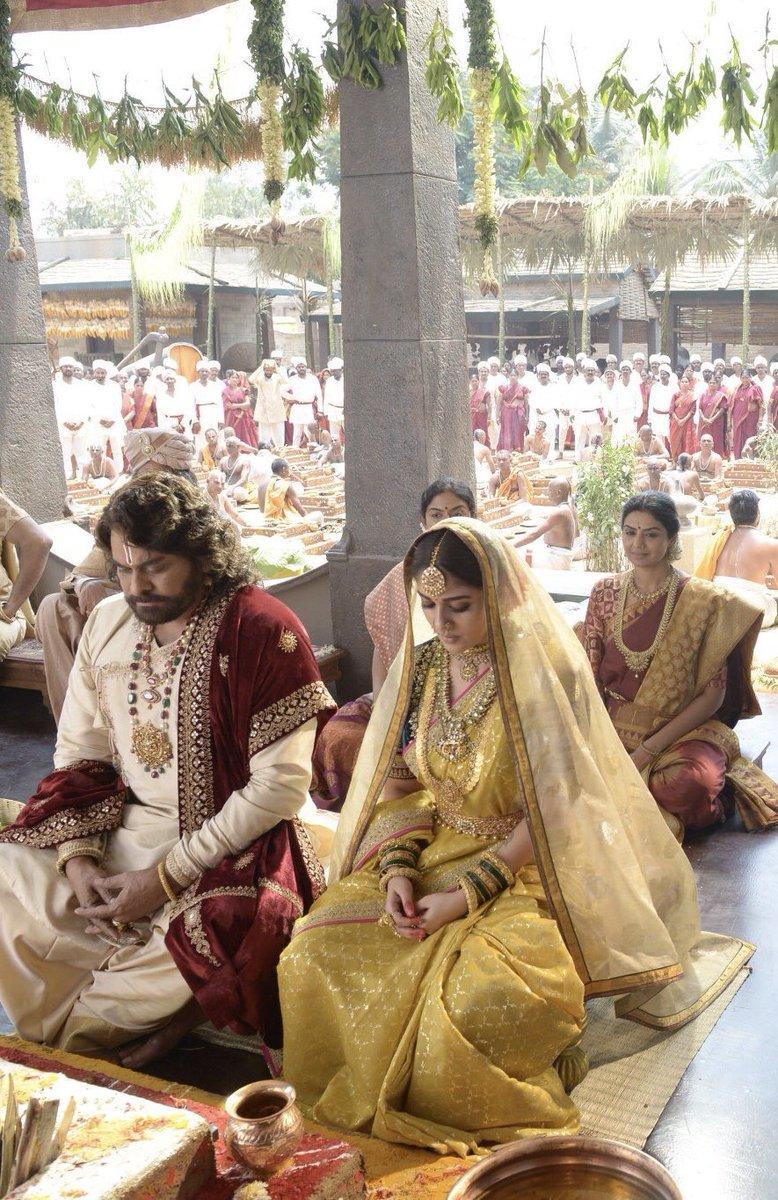 Chiranjeevi Nayanthara Sye Raa Narasimha Reddy First Look Image