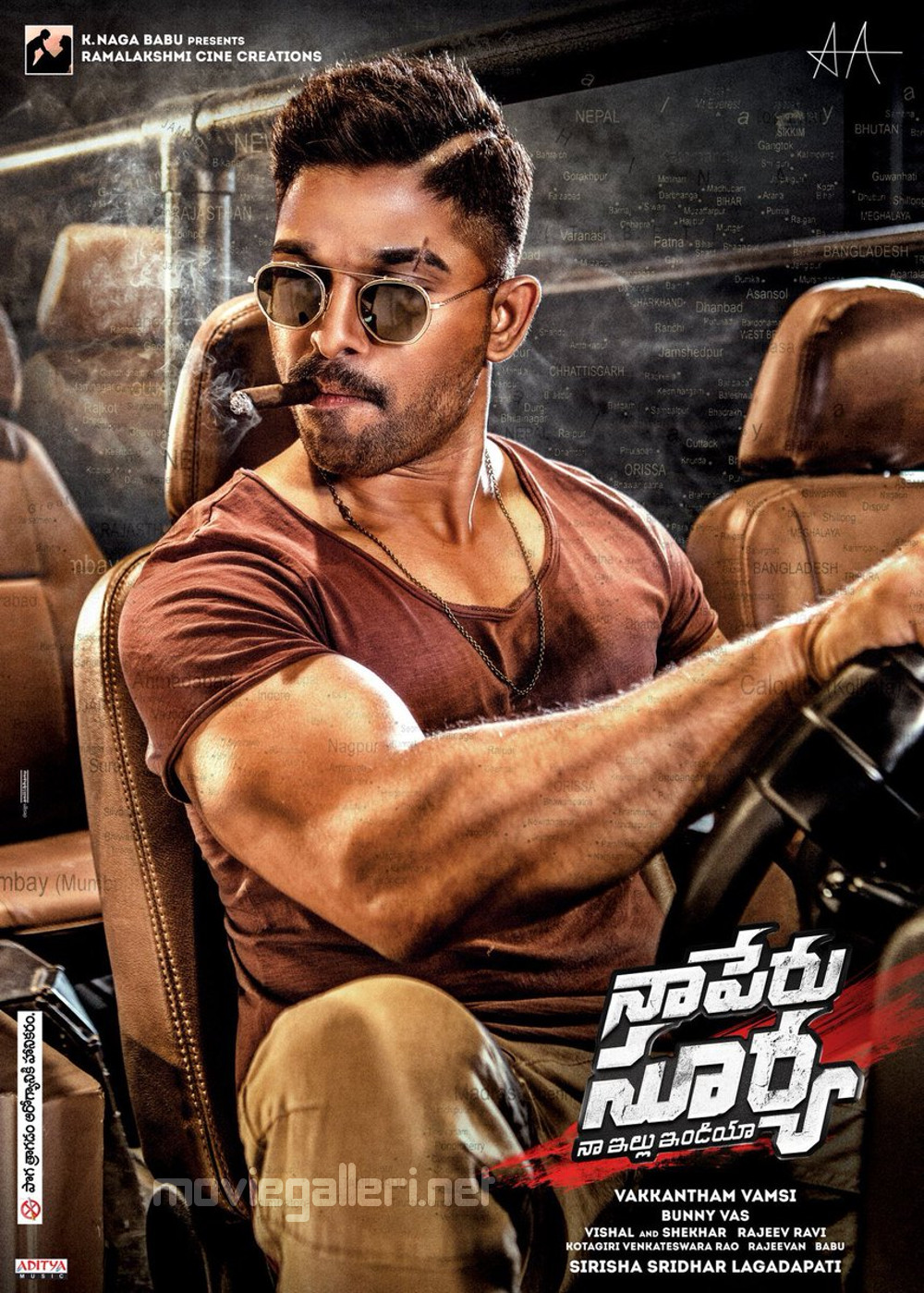 Naa Peru Surya Allu Arjun New Hairstyle Poster New Movie Posters