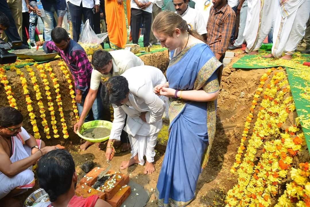 Pawan Kalyan lays foundation stone for his new house in Amaravathi