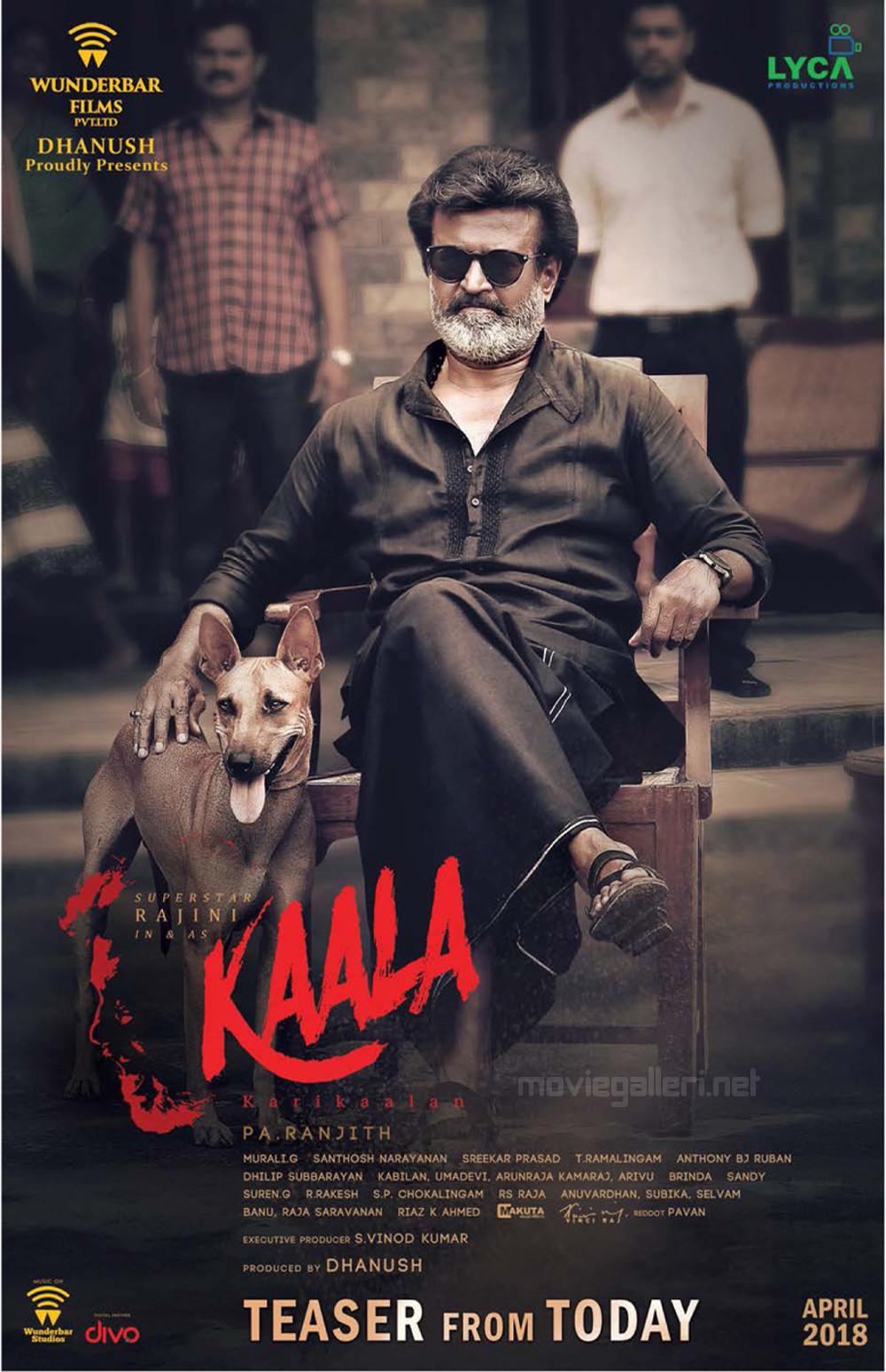 Rajinikanth Kaala Movie Teaser From Today Poster